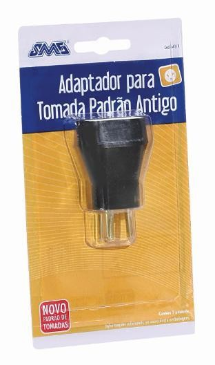 Adaptador Tomada Padrão  Novo => Antigo SMS Cod: 64119
