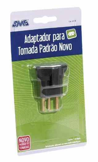 Adaptador Tomada Padrão  Antigo => Novo SMS Cod: 64120
