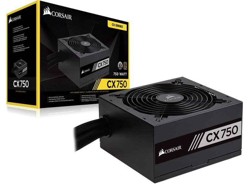 Fonte Corsair 750W 80 Plus Bronze PFC Ativo CP-9020123-WW