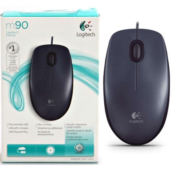Mouse Logitech M90 USB Preto Cod: 910-004053