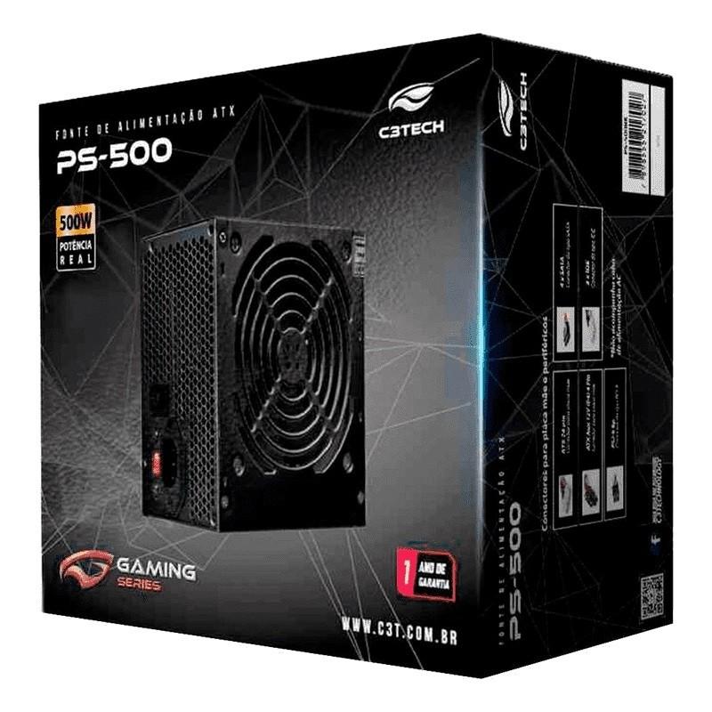 Fonte C3 Tech 500W PS-500BK